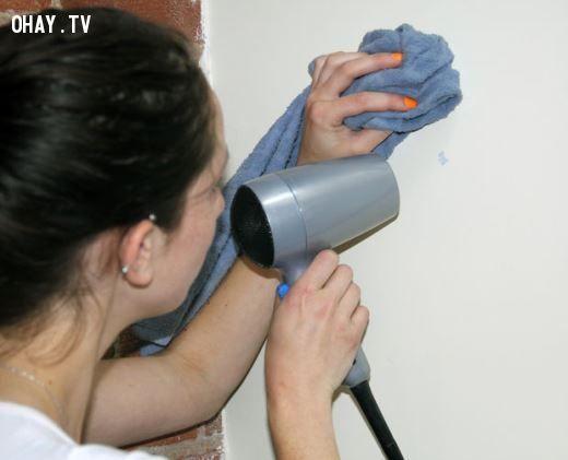 ảnh máy sấy tóc,máy sấy,mẹo hay,mẹo hay với máy sấy