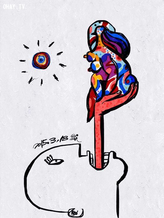 ảnh suy ngẫm,tranh biếm họa,hình biếm họa,tranh về cuộc sống