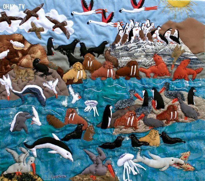 27 bức tranh sáng tạo từ vải vụn đẹp nhất thế giới
