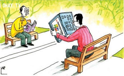 ảnh Internet,google,nghiện internet,thời đại internet,ảnh biếm họa,tranh biếm họa