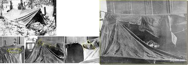 Bức hình về ngôi lều bị phá huỷ