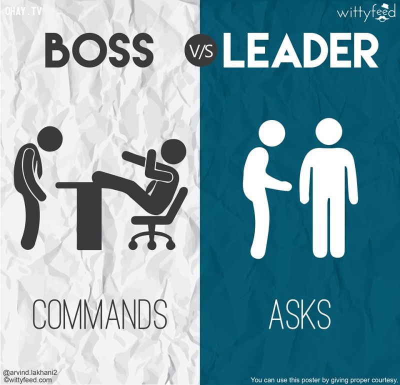 Ông chủ luôn ra lệnh, nhà lãnh đạo luôn đặt câu hỏi