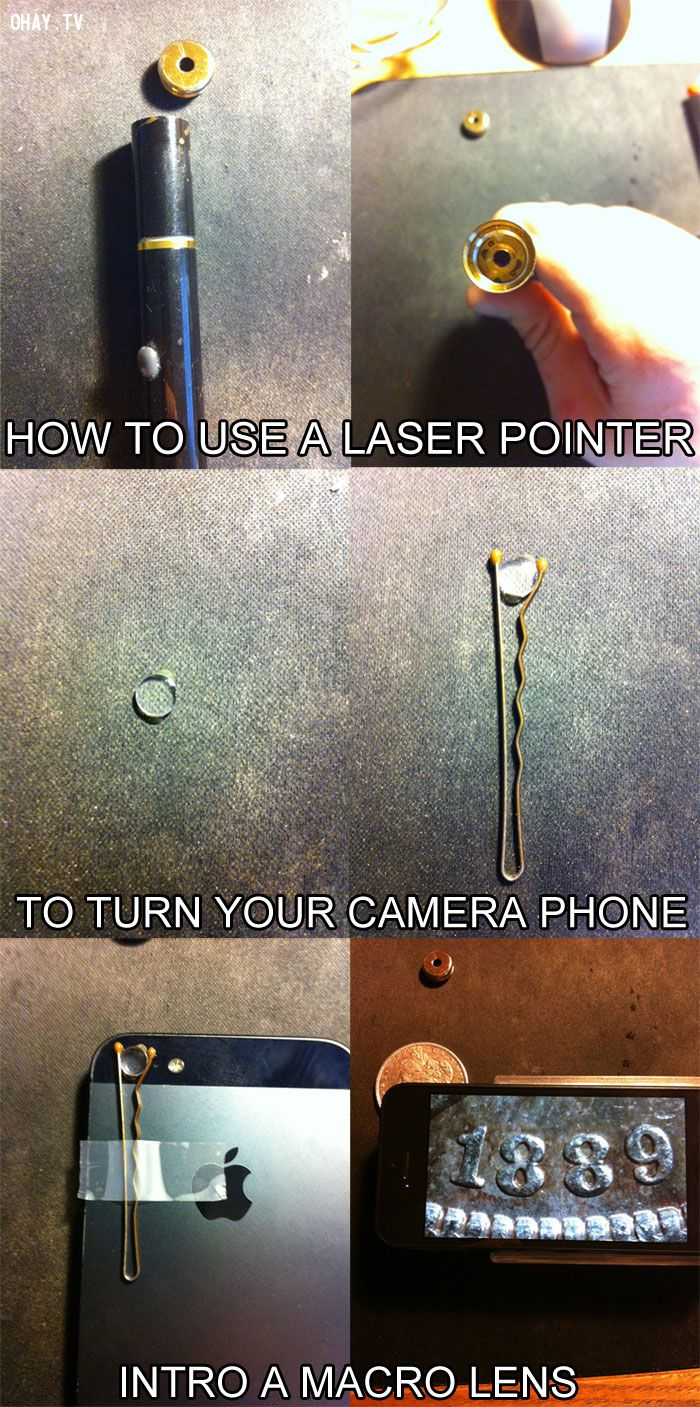 13. Use a laser pointer to do something you'd never have imagined could be this cool!