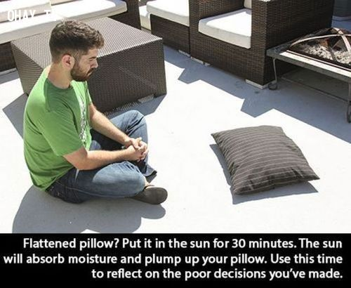 16. Transform your uncomfortable flattened pillow into the pillow of your dreams!
