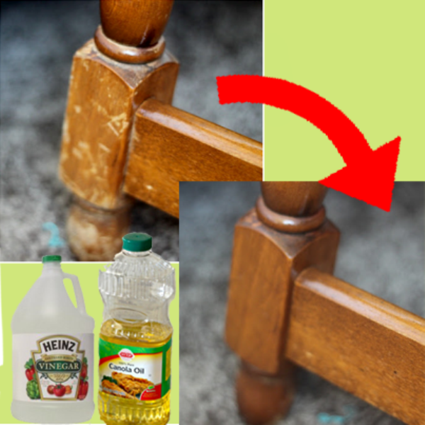 17. Naturally Repair Wood With Vinegar and Oil