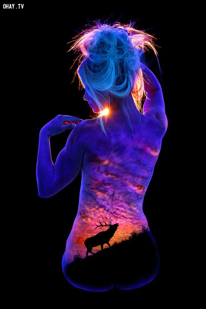 ảnh John Poppleton,bodyscapes,body painting