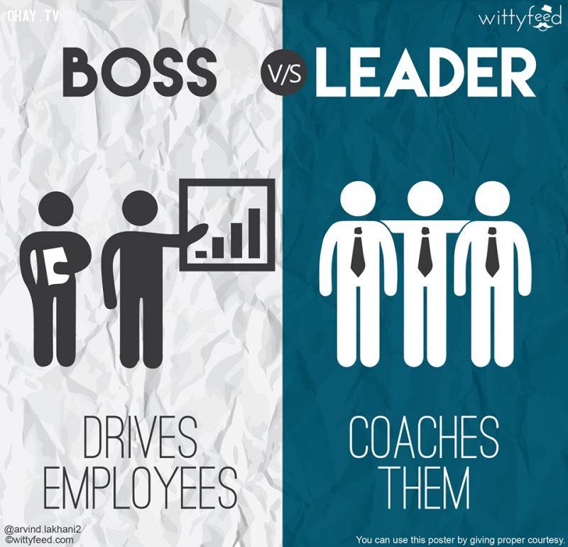 Ông chủ sai khiến nhân viên, nhà lãnh đạo huấn luyện họ