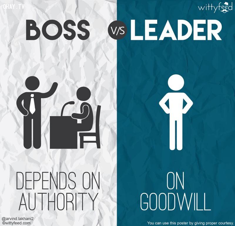 Ông chủ dựa vào quyền lực, nhà lãnh đạo dựa vào sự tín nhiệm