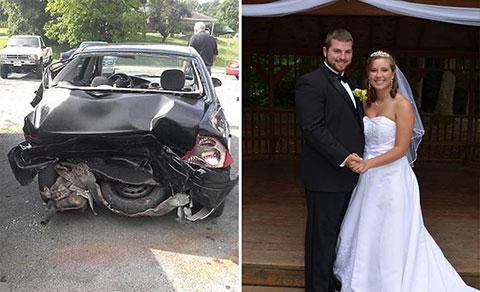 Người chồng tổ chức đám cưới lần nữa sau khi người vợ mất trí nhớ trong tai nạn xe hơi