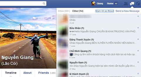 Cách chặn các tin nhắn spam inbox facebook
