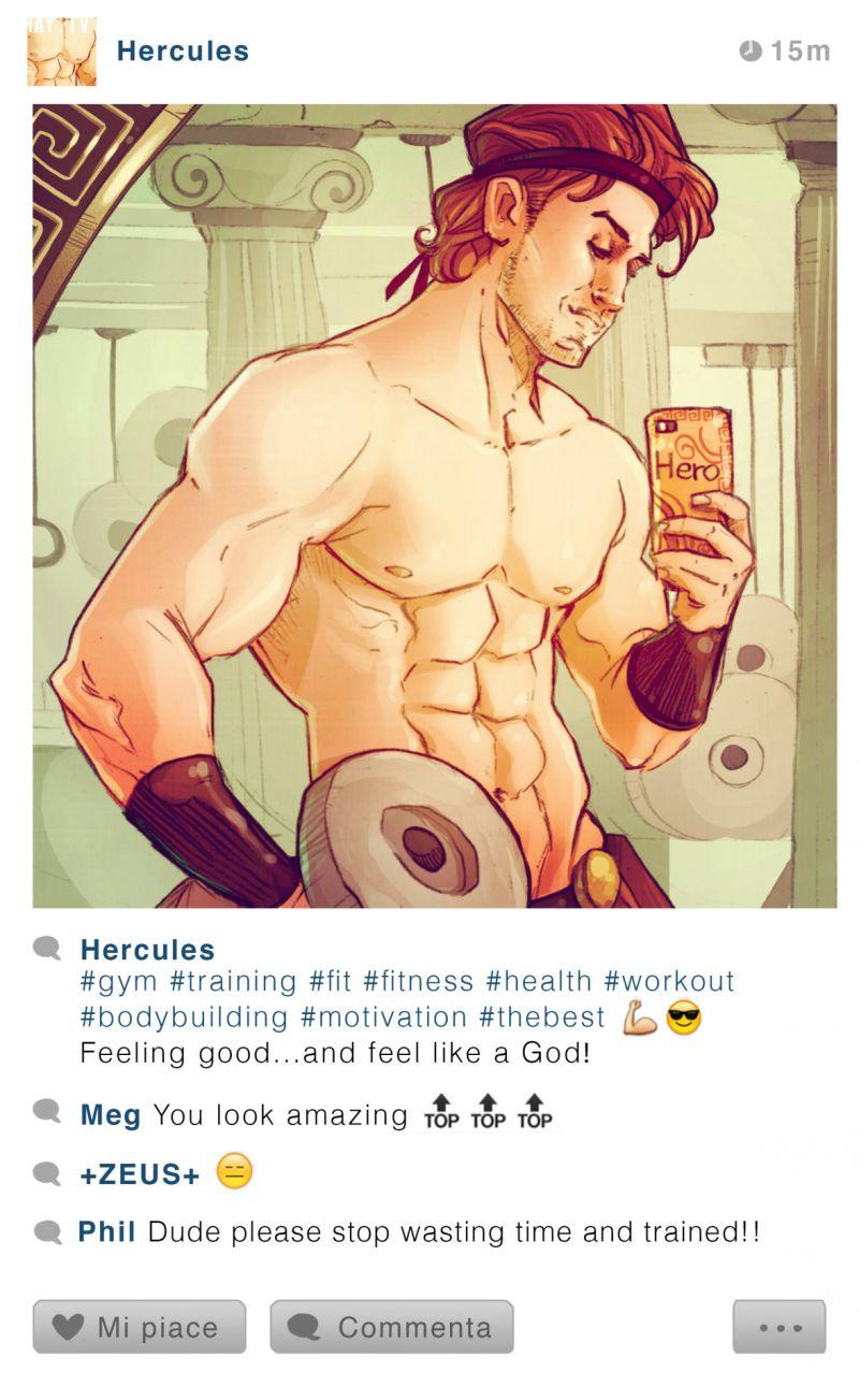 Hercules's instagram