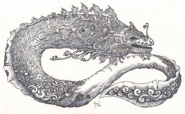 Abaia dưới hình dạng lươn lớn