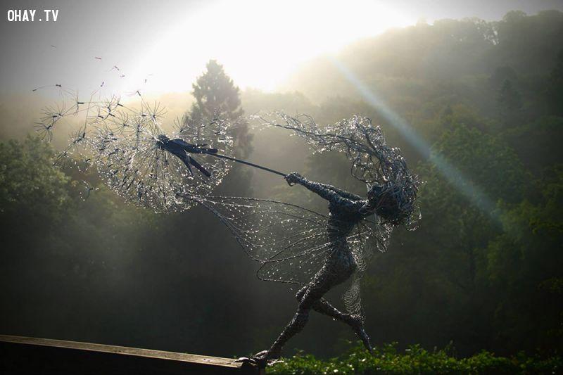 ảnh bồ công anh,thần tiên,điêu khắc,nghệ thuật,sáng tạo