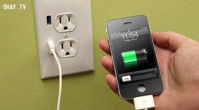 ảnh điện thoại,sạc pin,có thể bạn chưa biết