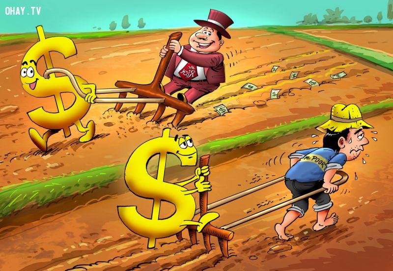 ảnh người giàu,người nghèo,sự khác biệt,suy nghĩ người giàu