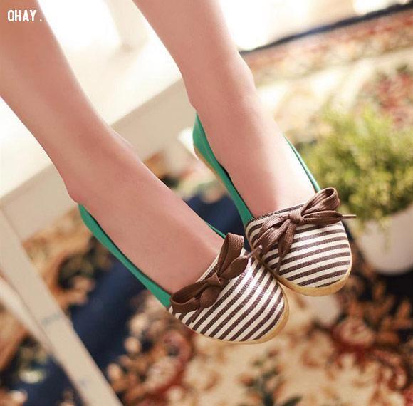 giày búp bê, giày đẹp, tiểu thư