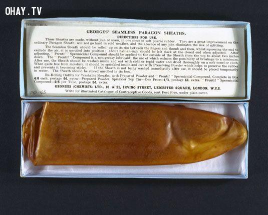 ảnh bao cao su,sự thật,có thể bạn chưa biết,lịch sử của bao cao su