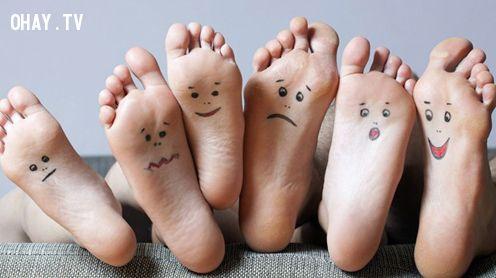 ảnh trắc nghiệm vui,trắc nghiệm tính cách,trắc nghiệm qua bàn chân,hình dáng bàn chân