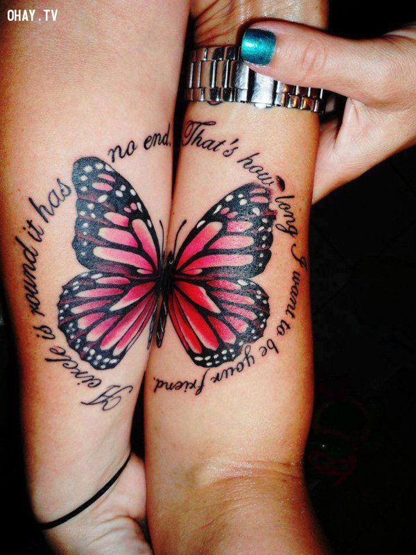 Hình xăm đôi cánh bướm