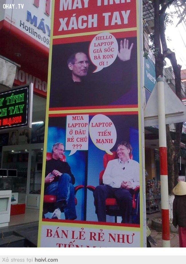 ảnh quảng cáo hài hước,chỉ có ở việt nam,quảng cáo bá đạo