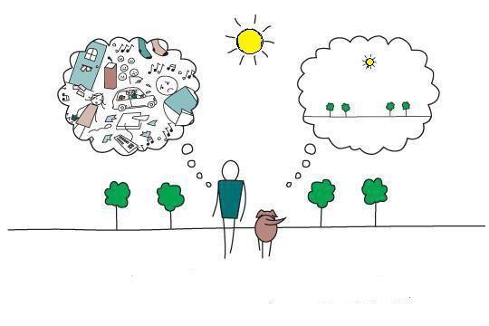 ảnh con chó,con người,sống tích cực,sống đơn giản