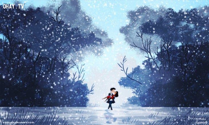 ảnh tranh vẽ,Nidhi Chanani,nghệ sĩ tự do,tranh vẽ tình yêu,tình yêu,muốn có người yêu,người yêu