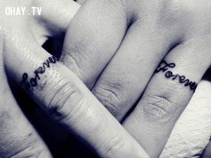 xăm đôi, xăm ngón tay, xăm chữ , tình yêu