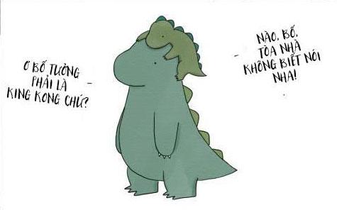 Cha con khủng long làm xôn xao cộng đồng mạng
