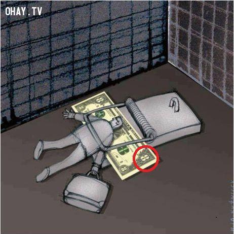 con người bất chất tất cả để lao vào đồng tiền