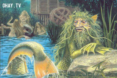 Thủy quái Vodyanoy và tiên cá
