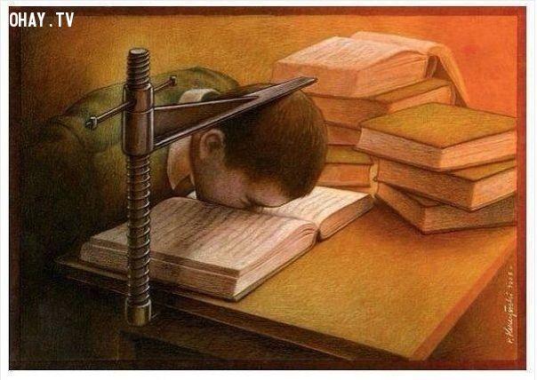 Trẻ em bị kết bản án mang tên sách vở