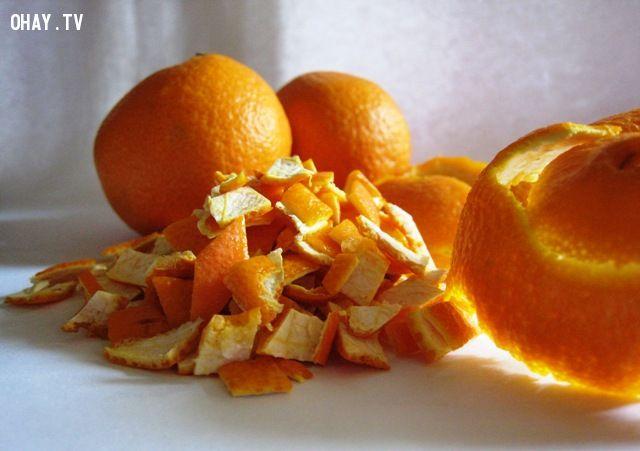 Trị mụn hiệu quả bằng vỏ cam