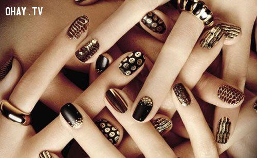 ảnh mẫu nail,mẫu nail đẹp,nail nhung,nail đính đá,nai cá tính,nail pari