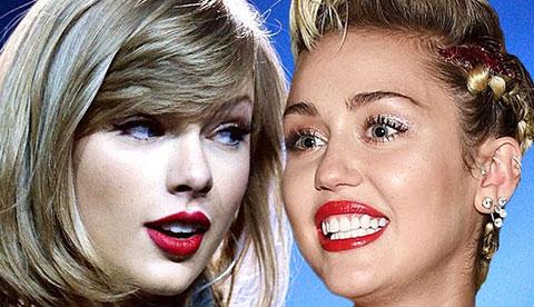 """Taylor Swift \""""cạch mặt\"""" Miley vì tấm ảnh nhạo báng cô"""
