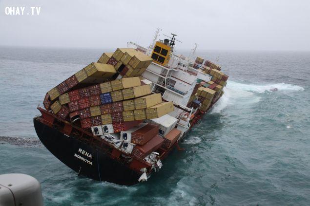 ảnh chìm tàu,container,tai nạn đường biển