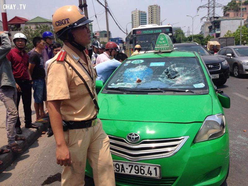 ảnh Taxi điên,CSGT,truy đuổi,cảnh sát giao thông