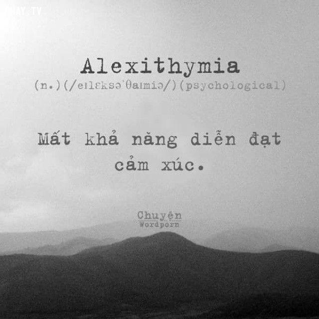 Wordporn alexithymia