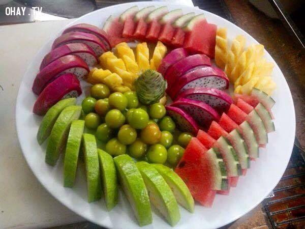 ảnh trang trí hoa quả,cách sắp đặt hoa quả,hoa quả,đồ tráng miệng