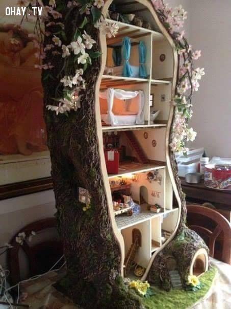 ảnh gốc cây,doll house,nhà của bé