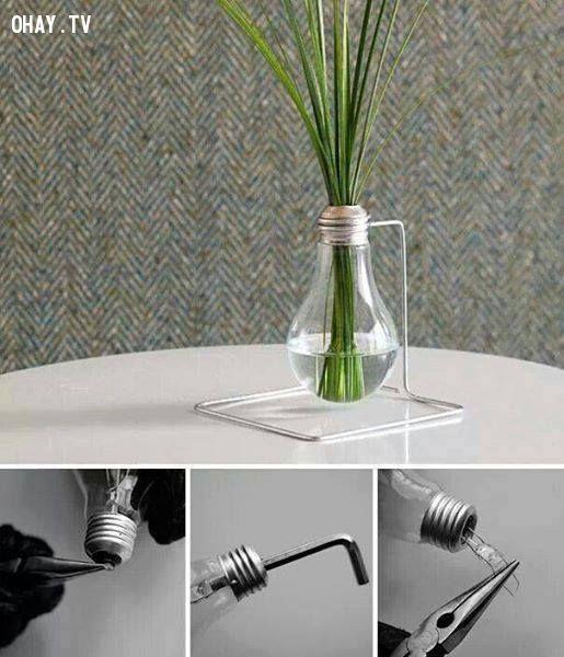 ảnh bóng đèn,tái chế,sử dụng đồ tái chế,đồ tái chế
