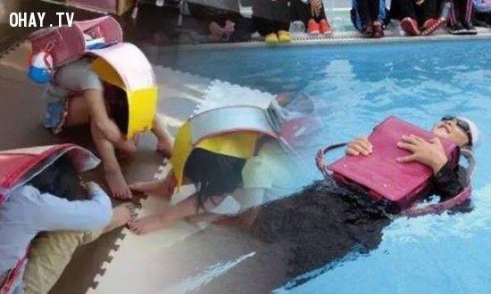 có thể giúp người sử dụng bảo vệ phần đầu cũng như nổi trên mặt nước