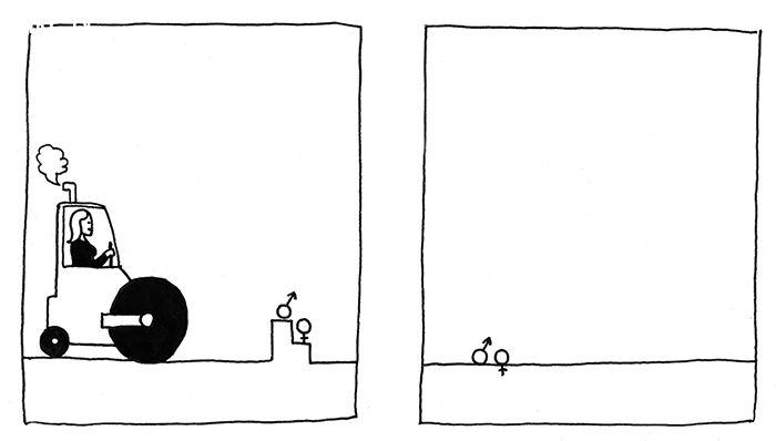 ảnh biếm họa bất bình đẳng giới