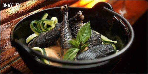 ảnh hàng xa xỉ,tôm đen,gà ayam,gà đen indonesia