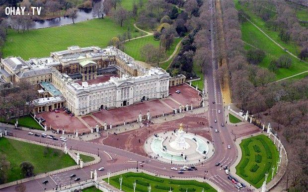 Mô tả hCung điện Buckingham khi nhìn từ trên cao.ình ảnh