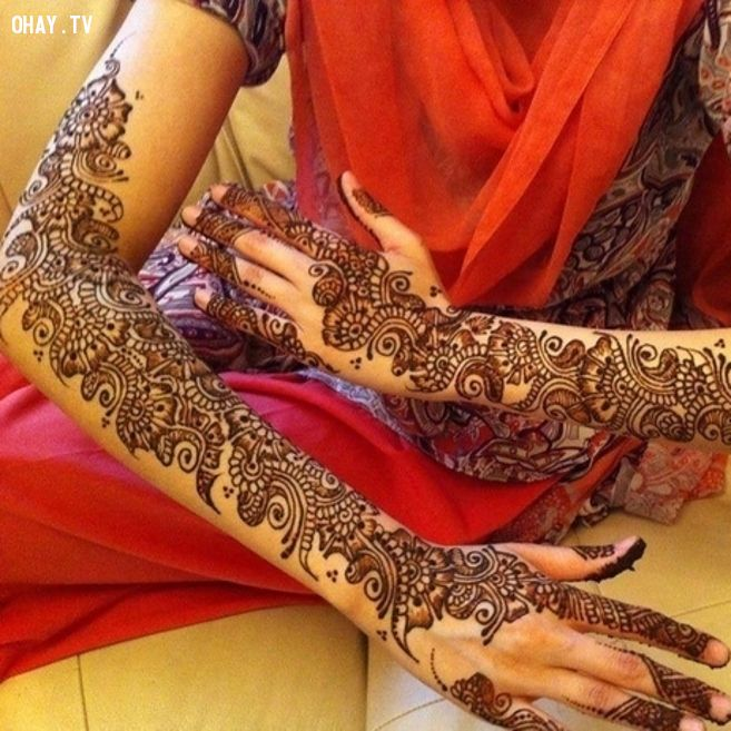 Những mẫu hình xăm đẹp - hình xăm nghệ thuật henna