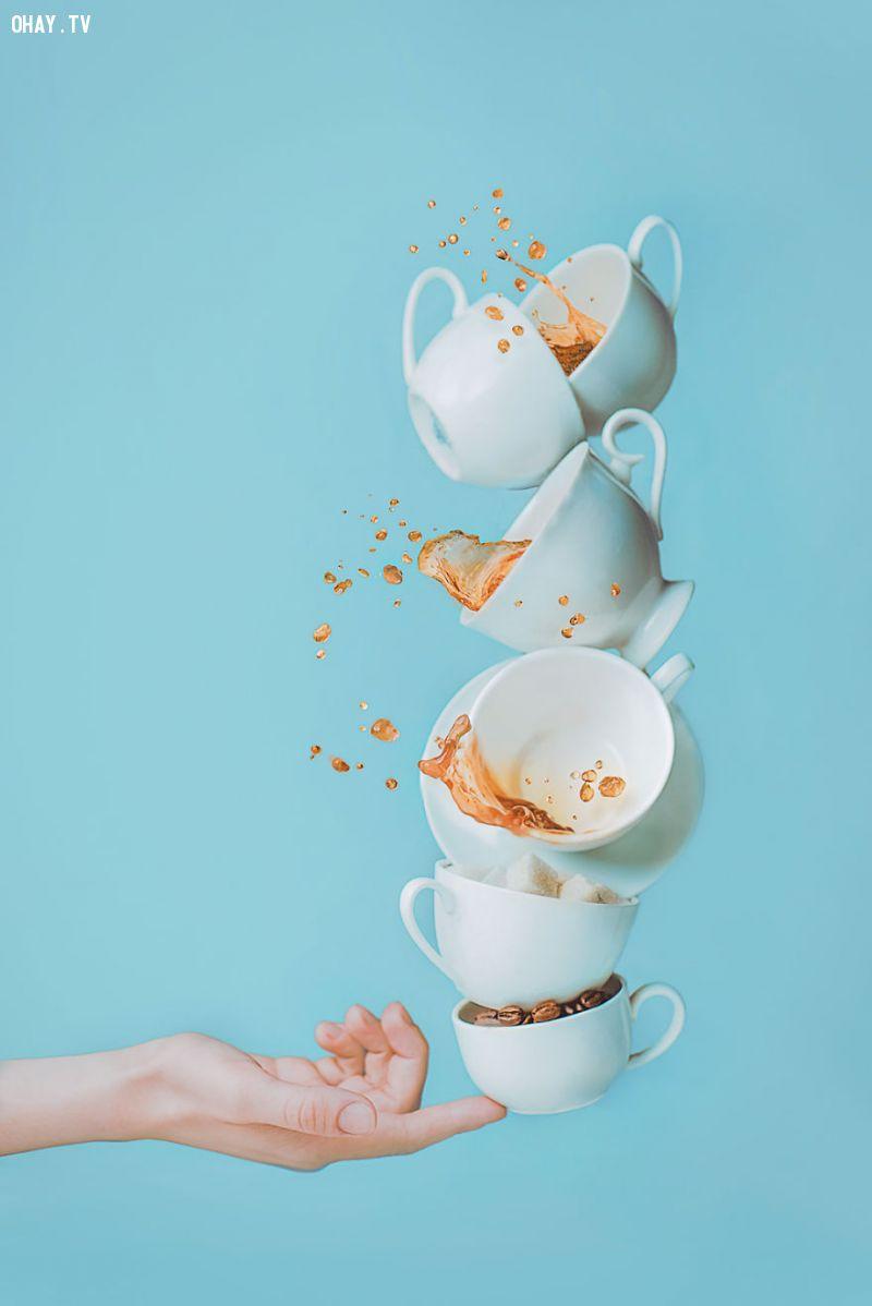 Thú vị với bộ ảnh sáng tạo từ cà phê và thức ăn
