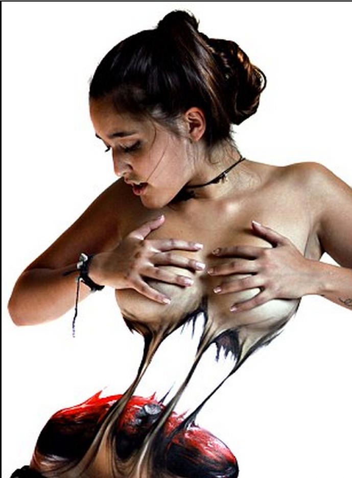 ảnh vẽ trên cơ thể người,hội họa,body painting,nghệ thuật,Jeampiere