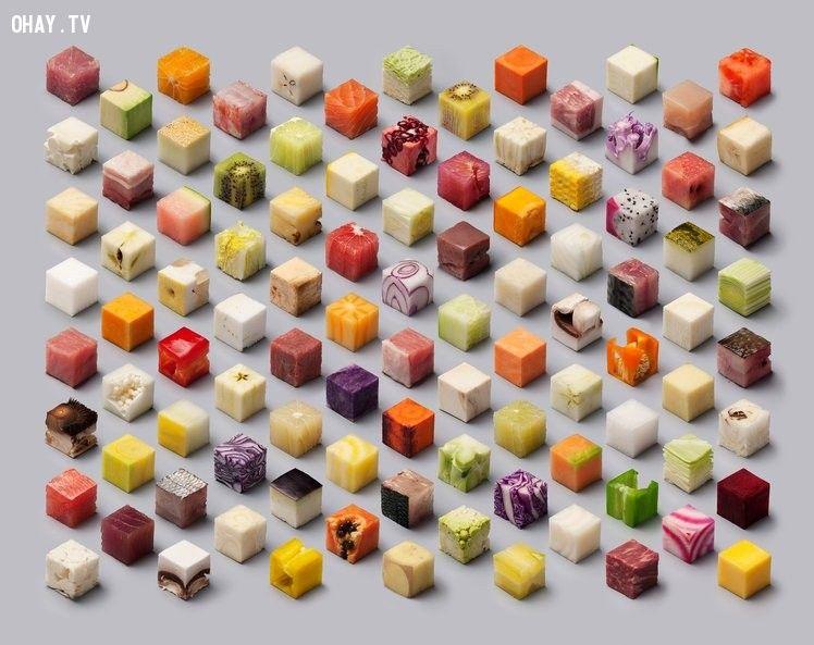 Những thực phẩm hình khối