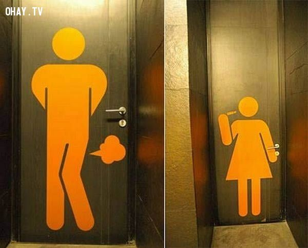 ảnh toilet,biển báo toilet,biển báo toilet bá đạo,biển báo hài hước