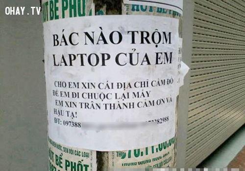 ảnh tâm thư gửi kẻ trộm,trộm cắp